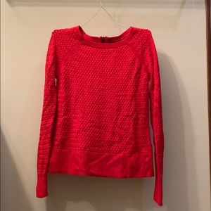 American eagle Red zipper detail sweater